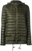 Moncler layered hem hooded jacket
