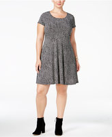 MICHAEL Michael Kors Size Printed Fit & Flare Dress