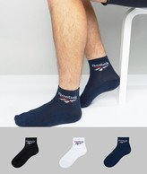 Reebok 3 Pack Crew Socks In Multi Bq2225