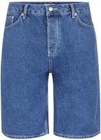 Topman Blue Oversized Skater Denim Shorts