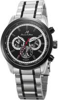 K&S KS Men's Dress Date Day 24 Hours Display Analog Automatic Mechanical Steel Wrist Watch KS307
