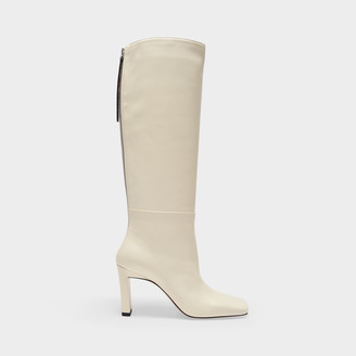 Wandler Ankle Boots In Beige Smooth Leather