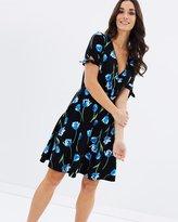 Dorothy Perkins Tie Sleeve Wrap Dress