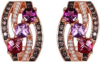 LeVian Le Vian 14K Rose Gold 1.88 Ct. Tw. Diamond & Gemstone Earrings