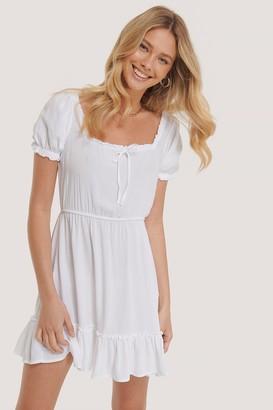 NA-KD Puff Sleeve Mini Dress