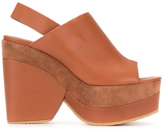 See by Chloe Suede Panel Wedges