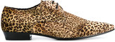 Saint Laurent leopard print Derby shoes