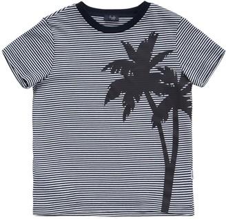 Il Gufo Striped Print Cotton Jersey T-Shirt