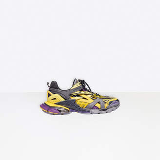 Balenciaga Track.2 in yellow, grey and purple mesh and nylon