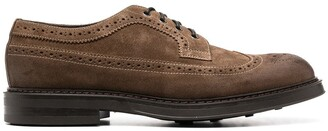 Doucal's suede Derby brogues