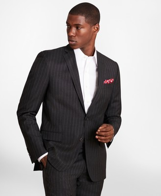 Brooks Brothers BrooksGate Regent-Fit Striped Wool Twill Suit Jacket