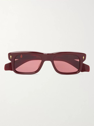 Jacques Marie Mage Saint Square-Frame Acetate Sunglasses - Men - Pink