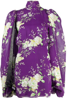 ATTICO Gobi floral-print mini dress