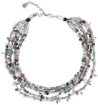 Uno de 50 UNOde50 Women's Necklaces - Blue Crystal & Silver-Plated Tickling Layered Choker Necklace