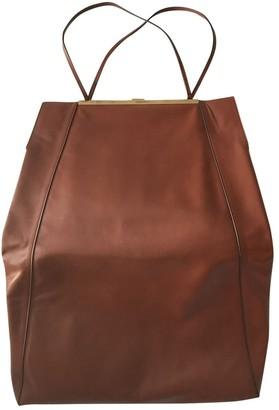 Celine Clasp Brown Leather Handbags
