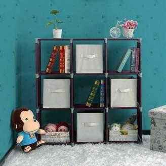 Ebern Designs Sebergham 3 Tiers 9 Compartments Cube Bookcase Ebern Designs Color: Dark Brown