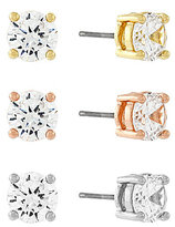 Jessica Simpson Cubic Zirconia Solitaire Stud Earrings Set