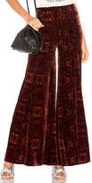 Free People Lovin Feeling Velvet Wide leg Pant in Red