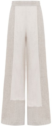 A Line Clothing Two Linen Fabric Trousers