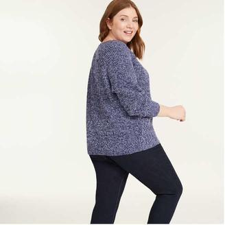 Joe Fresh Women+ Marled Sweater, Blue (Size 1X)