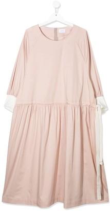 Unlabel TEEN drawstring poplin dress