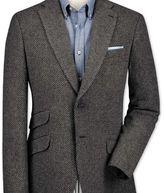 Charles Tyrwhitt Classic fit grey luxury border tweed jacket