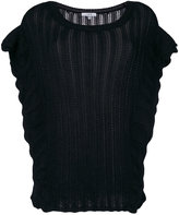 IRO ruffle knitted top - women - Acrylic/Wool/Alpaca - XS