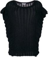 IRO ruffle knitted top