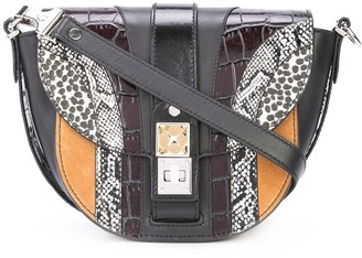 Proenza Schouler Exotic Patchwork PS11 Small Saddle Bag
