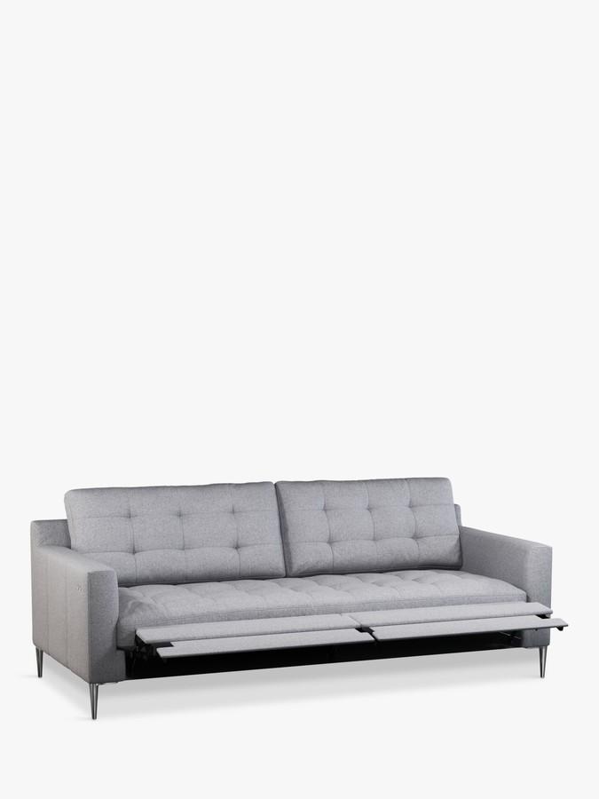 John Lewis & Partners Draper Motion Large 3 Seater Sofa with Footrest Mechanism, Metal Leg, Saga Grey