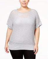 MICHAEL Michael Kors Size Sheer Metallic Sweater