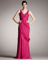Grecian V-Neck Gown
