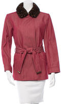 Louis Vuitton Mink-Trimmed Jacket