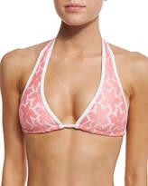 Letarte Daisy Lace Bikini Swim Top, Pink Coral