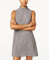 B. Darlin Juniors' Printed Mock-Neck Shift Dress