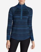 Eddie Bauer Women's Engage Fair Isle 1/4-Zip Sweater