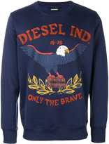 Diesel embroidered eagle logo sweatshirt