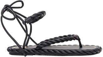 Valentino The Rope Sandals In Nappa Leather