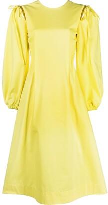 MSGM long-sleeve A-line dress