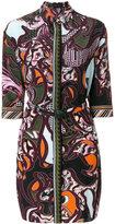Versace Baroccoflage print shirt dress - women - Silk - 38