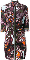 Versace Baroccoflage print shirt dress