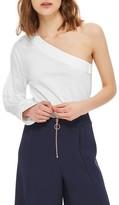 Topshop Women's One-Shoulder Jersey Top