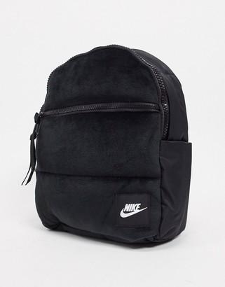 Nike velvet mini backpack in black