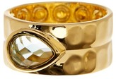 Melinda Maria Ryan Teardrop Stone Hammered Band Ring - Size 8
