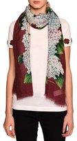Dolce & Gabbana Hydrangea Silk Gauze Scarf, Multicolor