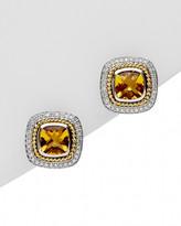 Andrea Candela Rodeo 18K & Silver 2.58 Ct. Tw. Diamond & Topaz Earrings