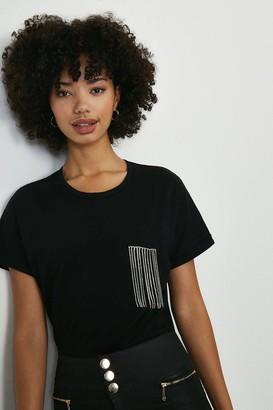 Coast Diamante Trim Pocket Tshirt