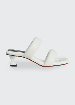 Proenza Schouler Cecil Puffy Kitten-Heel Slide Sandals
