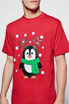 boohoo Christmas Penguin T-Shirt