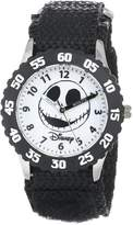 Disney Kids' W000450 Jack Skellington Stainless Steel Time Teacher Bezel Velcro Strap Watch